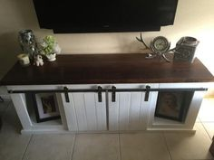 Grandy Sliding Barn Door TV Stand