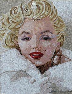Mosaic Crafts, Mosaic Projects, Mosaic Art, Mosaic Glass, Mosaic Tiles, Glass Art, Stained Glass, Illustration Arte, Mosaic Portrait