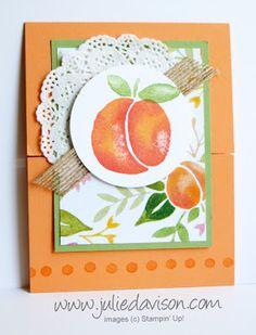 Fresh Fruit Peach Gate Fold Card