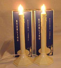 christmas electric candles for windows | Vintage Retro Christmas Candle Hurricane Electric Lamp In Original Box ..