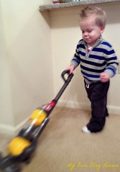 Kid's Toy Dyson Vacuum...so fun! My son loves helping me clean, it's perfect