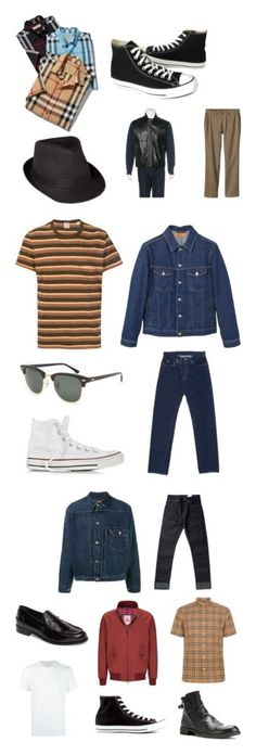 """1950's-60's"" by joeward on Polyvore featuring Patagonia, Burberry, Converse, Gucci, vintage, men's fashion, menswear, Levi's, The Idle Man and MANGO MAN"