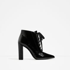 LACE-UP HIGH HEEL ANKLE BOOTS | Zara