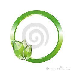 Green leaves circle frame logo, wellness, eco, bio symbol vector, isolated on white background. Green Circle Logo, Circle Logos, Green Leaves, Wellness, Symbols, Concept, Frame, Illustration, Picture Frame