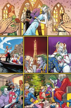 A fictional world (within a fictional world) where the Joker is not abusive to Harley - only then would this be a happy thing. I'm not normally a hashtag person but . - to either gender - is never okay Joker Y Harley Quinn, Harley Quinn Drawing, Joker Comic, Comic Art, Comic Book, Harley Queen, Der Joker, Batman Family, Marvel Dc Comics