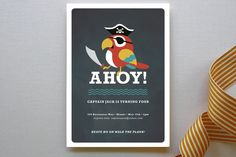 Yo Ho Ho! Children's Birthday Party Invitations by Susan Asbill at minted.com