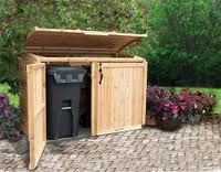 Outdoor Trash Can With Wheels An Outdoor Storage Shed Is Ideal For Storing Garbage Cans Lawn And
