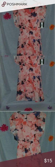 Spring/Summer Dress Off the shoulder floral Spring/Summer Dress Item # 13021 Iz Byer Dresses Midi