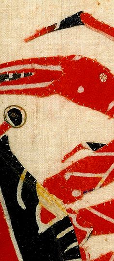 Art and Observation: Ayako Miyawaki Crab Japanese Embroidery, Embroidery Applique, American Flag Art, Quilt Stitching, Quilting, Miniature Quilts, Fabric Pictures, Japanese Textiles, Sewing Art