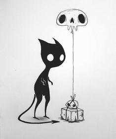 Creepy Art, Ink Drawings, Demon Drawings, Cool Drawings, Art Inspo, Halloween Drawings, Halloween Art, Inktober, Art Sketches