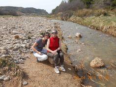 El descanso de las buscadoras. Río Ribota (Calatayud)