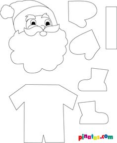 Santa Claus Christmas craft idea template