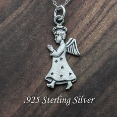 Angel Praying  925 Sterling Silver  Charm by celebrityfashions, $7.65