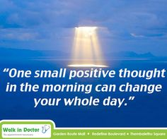 """One small positive thought in the morning can change your whole day. Positive Thoughts, You Changed, Mindfulness, Inspirational Quotes, Positivity, Canning, Motivation, Type 3, Day"