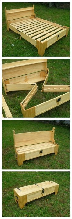Wood Profit - Woodworking - Amazing Custom Bed Folds Into a Chest For Easy Storage Discover How You Can Start A Woodworking Business From Home Easily in 7 Days With NO Capital Needed! Woodworking For Kids, Easy Woodworking Projects, Woodworking Furniture, Custom Woodworking, Teds Woodworking, Diy Furniture, Woodworking Techniques, Intarsia Woodworking, Furniture Plans