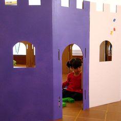 como hacer un castillo de carton tamaño familiar - Buscar con Google