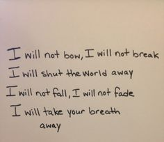 I will not bow- breaking benjamin