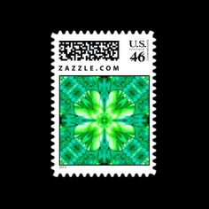 Find a Fractal Shamrock  Postage from Bill M. Tracer Studio, at Zazzle: http://www.zazzle.com/find_a_fractal_shamrock_postage-172872399218809598