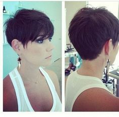The pixie haircut is still on trend and getting one is the perfect way to stand out from the crowd. Long pixie hairstyles are a beautiful way to wear short. Short Pixie Haircuts, Cute Hairstyles For Short Hair, Straight Hairstyles, Braided Hairstyles, Pixie Bob, Prom Hairstyles, Spring Hairstyles, Celebrity Hairstyles, Asymmetrical Haircuts