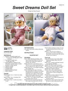 Sweet Dreams Doll Set by Vicky Russell - https://www.fichier-pdf.fr/2011/01/27/fc01199/fc01199.pdf