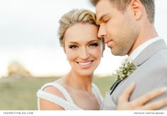 Beautiful Bride and Groom. Former Mr and Miss South Africa! View the rest of their stunning photos on theprettyblog.com | Wedding Venue: Oakfield Farm | Photographer: Christine Meintjes Photography | Make-up: Beauty & the brush | Make-up: Make-up by Dyllon | Hair: Gary Rom Hair | Wedding Dress: Bondesio Couture