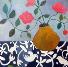 Annie O'Brien Gonzales-http://annieobriengonzalespaintings.blogspot.com/2015/02/contemporary-abstract-still-life-flower_13.html