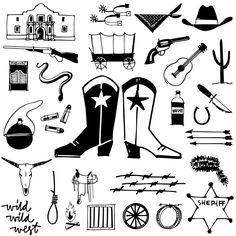 COWBOY DOODLES FONT  A childhood of Westerns, a cap gun, chaps, spurs, cowboy hat and boots plus a trip to Texas was the inspiration for Cowboy Doodles.  If you need a doodle font for your next roundup, rodeo or cattle drive themed invitation check out Cowboy Doodles. 29 cowboy themed illustrations plus wild, wild west lettering.