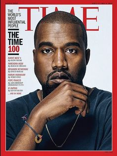 Kanye West wearing his MyIntent BEAUTIFY bracelet on the cover of TIME Magazine