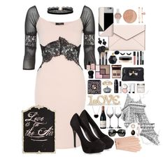 """Black and Blush Contest Entry"" by cazziez ❤ liked on Polyvore featuring New Look, Rebecca Minkoff, Olivia Burton, Maybelline, Anne Klein, MAC Cosmetics, Yves Saint Laurent, Tasha, Azalea and Ted Baker"