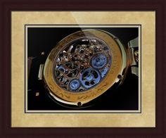 "Stuhrling Original Emperor's Tourbillon Watch // Paper: enhanced matte; Glazing: acrylic; Moulding: dark brown, large flat espresso; Top Mat: white/cream, rococo cream; Middle Mat: black/gray, nightshade; Bottom Mat: tan,  sea foam // Price starts at $174 (Petite: 23.25"" x 25.25""). // Customize at http://www.imagekind.com/Stuhrling-Original-Emperors-Tourbillon-ST_art?IMID=f96fbb65-cc1c-486a-92a1-d0dd76097f47"