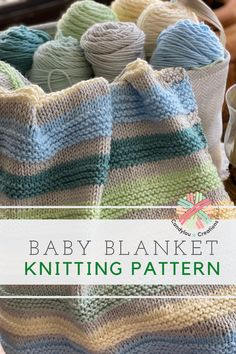 Lion Brand Basic Stitch Baby Mittens Knitting Pattern, Knitting Needle Sets, Knitting Help, Easy Knitting, Knitting Ideas, Knitting Projects, Easy Knit Baby Blanket, Knitted Baby Blankets, Small Blankets