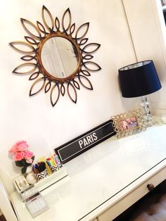 @Tiffany D styles her home office with our Paris framed print at her desk.