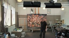 Peter Howson In His Glasgow Studio