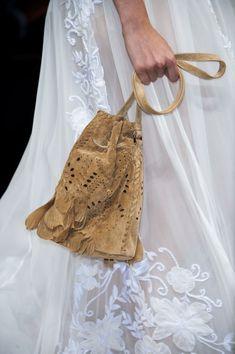 Alberta Ferretti at Milan Spring 2015: Detailed Bucket Bag