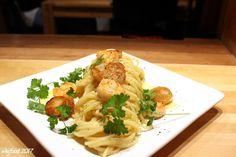 WesFood: Spaghetti mit Shrimps und Jakobsmuscheln au Mornay...