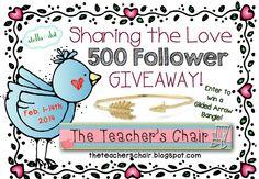 The Teacher's Chair: 500 Follower Giveaway - Stella & Dot Bangle!