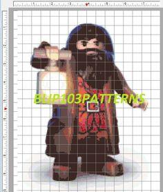 Lego Hagrid Cross Stitch Patterns by Blip103patterns on Etsy, $4.00
