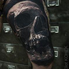 #realistic #skull #tattoo  @fusion_ink @killerinktattoo @hustlebutterdeluxe  #realistictattoo #blackandgrey #ink