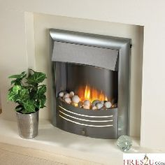 The Flamerite Mariner electric fire is a contemporary inset fire. This inset electric fire can be made freestanding by purchasing a spacer kit.