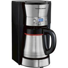 Hamilton Beach - 10-Cup Coffeemaker - Black/silver