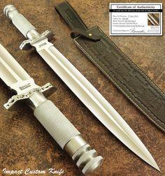 Hecho a mano por el impacto cubiertos Raro Personalizado masiva D2 Daga Cuchillo Mango moleteado in Objetos de colección, Cuchillos, espadas y cuchillas, Cuchillos de hoja fija | eBay