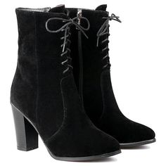 Flock Zipper Chunky Heel Short Boots #>=#>=#>=#>=#> Click on the pin to check out discount price, color, size, shipping, etc. Save and like it!