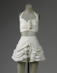 Two-piece bathing suit, late 1940s–early 1950. American. The Metropolitan Museum of Art, New York. Gift of Miriam Whitney Coletti, 1985 (1985.364.12a,b)
