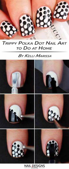 Trippy Polka Dot Nail Art