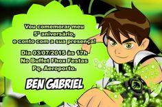 Convite digital personalizado Ben 10 005