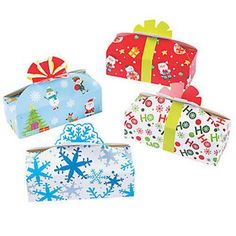 Pack of 4 - Christmas Assorted Empty Gift Boxes
