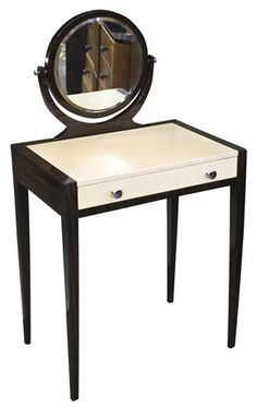 """""""Vanity, women is thy name""""... if this is what he meant then I'm in!   Art Deco Vanity finished in Parchment"""