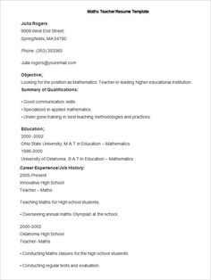 sample braille teacher resume template how to make a good teacher resume template there are many kinds of teacher resume template that you have