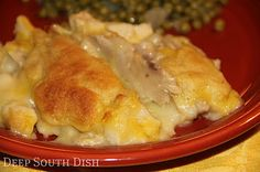 Deep South Dish: Chicken and Dumpling Bake Casserole - one of the most popular recipes on the site, this casserole gives a felling of good ole chicken & dumlings, but in an easy casserole form.