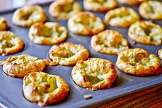 Mini Blue Cheese Popovers by Full Fork Ahead, via Flickr